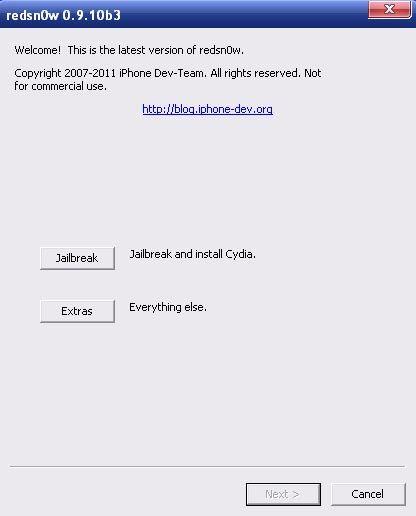 Скачать Redsn0w 0.9.10b3 для отвязанного джейлбрейка iOS 5.0.1 [Скачать]