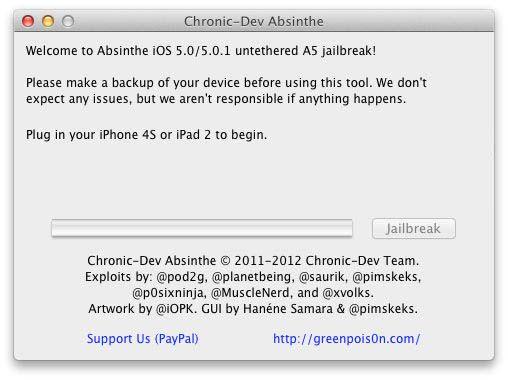Отвязанный джейлбрейк IPad 2 и iPhone 4S на iOS 5.0 и iOS 5.0.1 с помощью Absinthe [Инструкция / IFAQ]