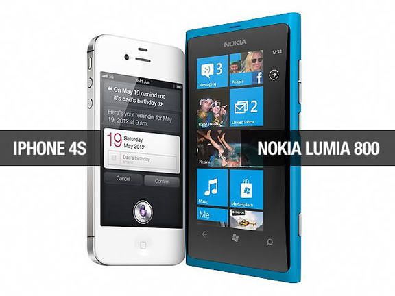 Nokia Lumia 800 VS iPhone 4S и iPhone 4 [Видео]