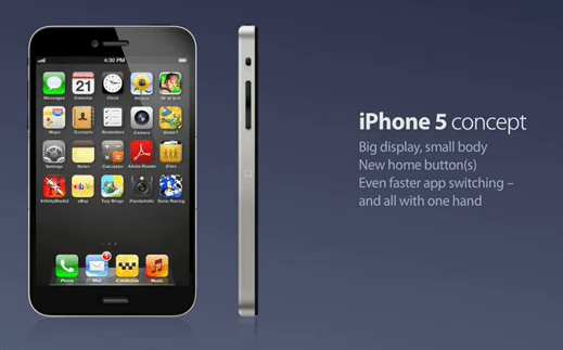 iPhone 5 с двумя кнопками Home [Концепт / Видео]