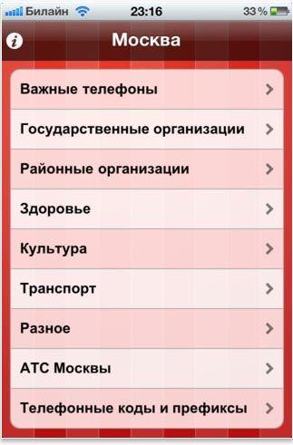 Скачать телефонный справочник организаций Москвы для IPad и iPhone [Обзор / Скачать]