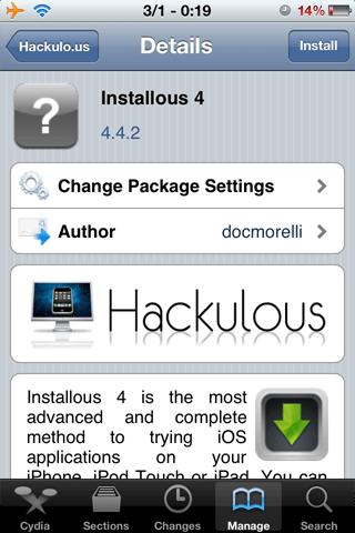 Что такое Installous? Как скачать Installous? Как установить приложение с помощью Installous? [Приложения из Cydia / IFAQ]