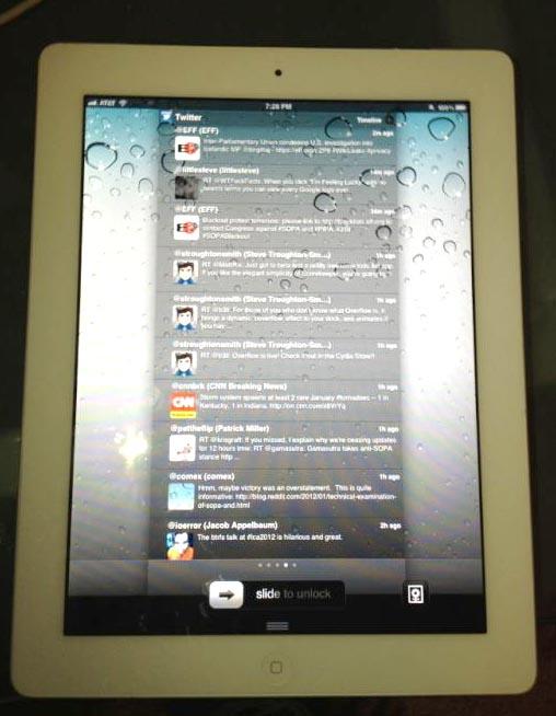 Хакеры показали отвязанный джейлбрейк iOS 5 на iPad 2 [Фото]