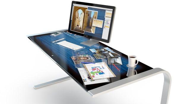 Концептуальный компьютерный стол с футуристическим дизайном - iDesk [Концепт]