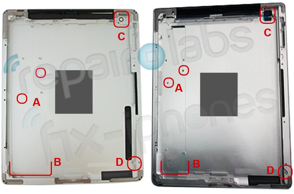Корпус предполагаемого IPad 3 указывает на изменения аккумулятора, камеры и экрана в сравнении с IPad 2 [Фото]