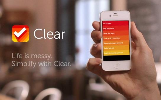 Clear - удобный органайзер для iPhone, IPad и iPod Touch [Скачать / App Store / Обзор]