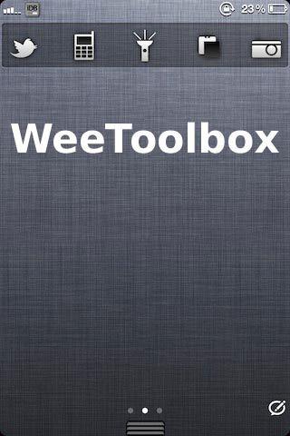 Бесплатный твик WeeToolbox добавит Twitter, телефон, фонарик, Pastie и камеру в Центр уведомлений [Скачать / Cydia]