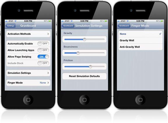 Твик Graviboard создаст гравитацию иконок на рабочем столе iPhone, iPod Touch и IPad [Обзор / Cydia / Скачать]