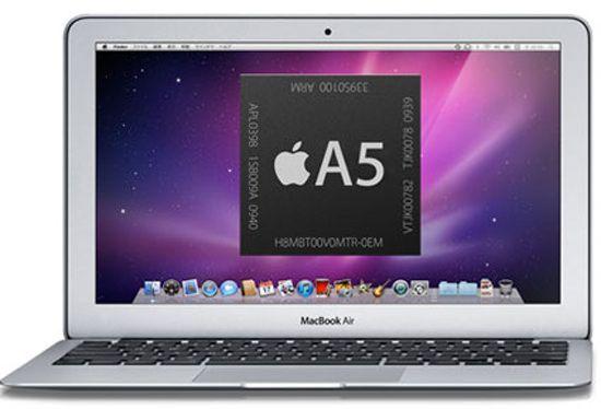 Apple выпустит MacBook Air с процессором ARM (A5)?