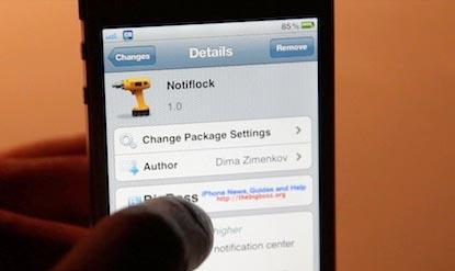 Скачать твик Notiflock, позволяющий включить уведомления Центра на экране блокировки [Скачать / Deb]