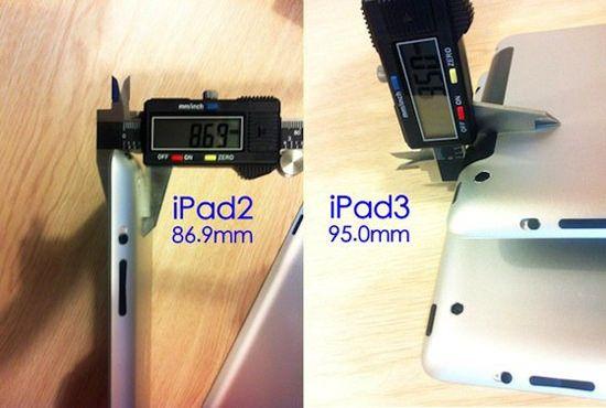 IPad 3 будет толще, чем IPad 2 [Фото]