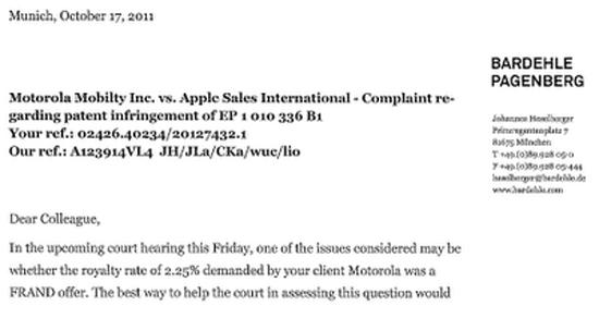 Motorola требовала 2,25 % от продажи всех беспроводных устройств Apple