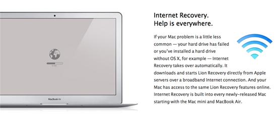 Apple добавила функцию Internet Recovery для Mac 2010