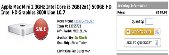 Акция: Apple Mac Mini за 9.95