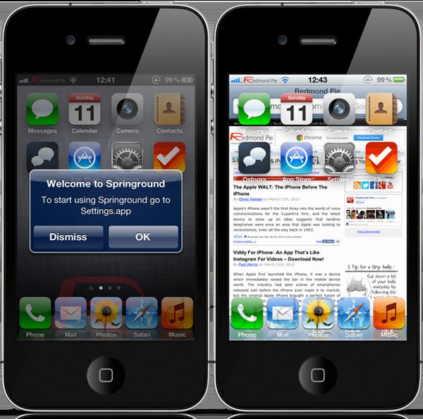 Твик Springround - вездесущий рабочий стол для iPhone / iPod / iPad [Скачать / Cydia / Обзор]