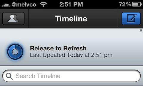 """Почему Apple не включает функцию """"pull-to-refresh"""" в iOS"""