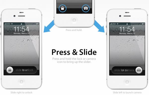 Концептуальный экран разблокировки iPhone [Концепт]
