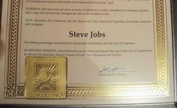 Стив Джобс посмертно удостоился президентской награды
