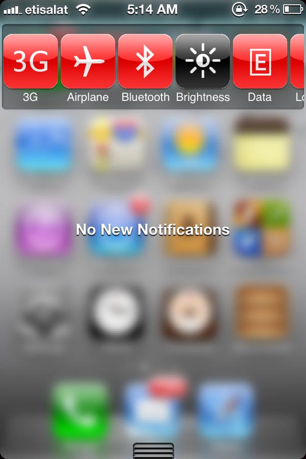 Скачать твик BlurriedNCBackground, добавляющий прозрачность центра уведомлений на iPhone, iPod touch, IPad [Cydia / Обзор / Скачать]