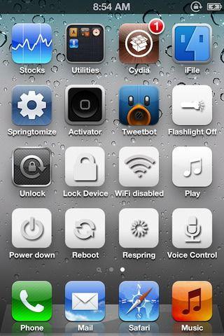 Скачать твик Usefulicons - создаст ярлыки для быстрого доступа к функциям iOS на iPhone, iPod, iPad [Cydia / Обзор]