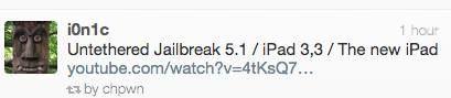 i0n1c показал на видео отвязанный джейлбрейк iOS 5.1 на IPad 3 (The New IPad) [Видео]