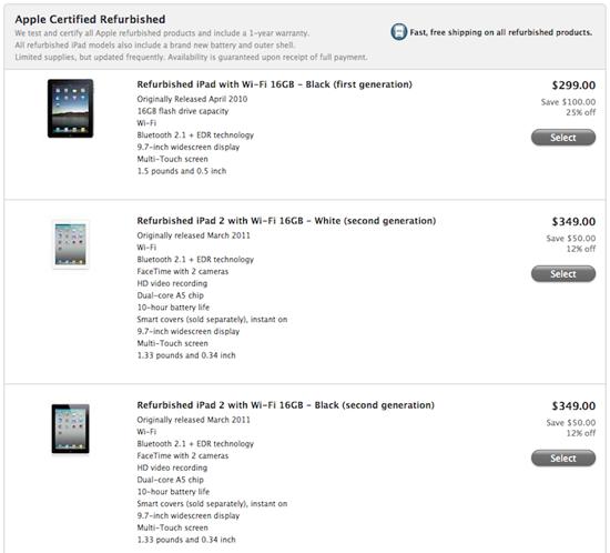 Apple предлагает iPad за 9
