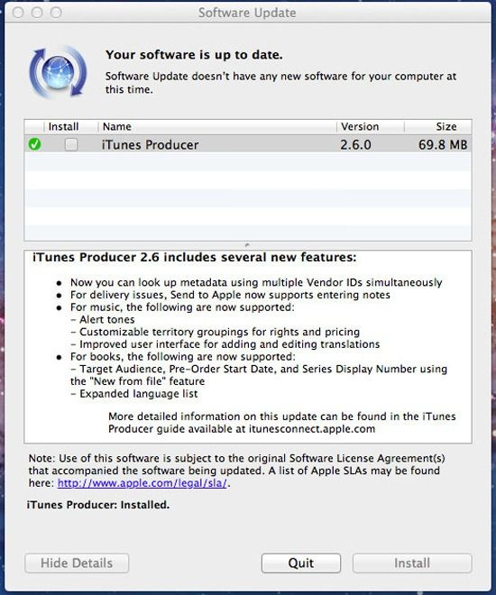 Вышло обновление iTunes Producer 2.6