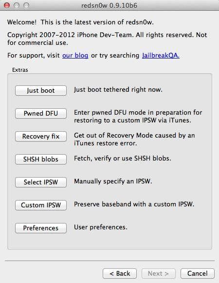 Скачать Redsn0w 0.9.10b6 для Windows и Mac, позволяющий сделать джейлбрейк на iOS 5.1 [Скачать]