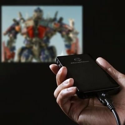 Microvision SHOWWX превратит стену в экран для iPhone, iPod и iPad [Аксессуары]