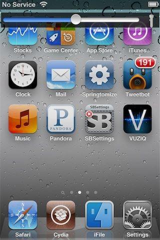 Brightslide простой и стильный регулятор яркости для iPhone, iPod, IPad [Cydia / Обзор / Скачать]