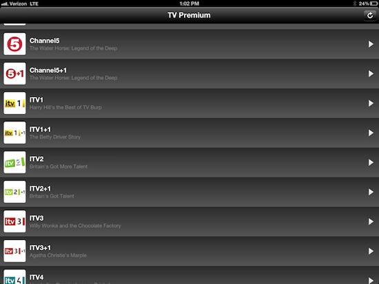 TV English Premium - приложение для просмотра премиум телевидения Англии [Обзор / App Store]