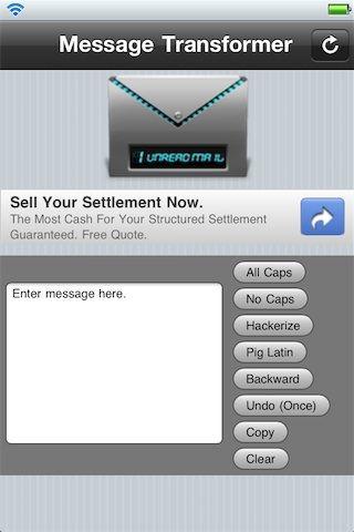 Message Transformer позволяет конвертировать текст в различные форматы для iPhone, iPod, iPad [Скачать / Cydia / Обзор]