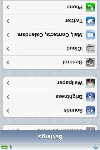 UpsideDown - твик для розыгрыша друзей для iPhone, iPod, iPad [Cydia / Обзор / Скачать]