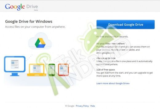Облачный сервис Google Drive для Mac, Windows, Android и iOS появится через неделю