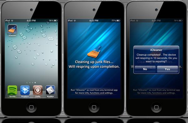 iCleaner почистит ненужные (временные, кэш и тд) файлы iPhone, iPod, iPad [Скачать / Cydia / Обзор]