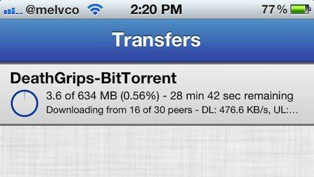 Скачать бесплатно iOS BitTorrent клиент iTransmission для iPhone, iPod, IPad [Cydia]