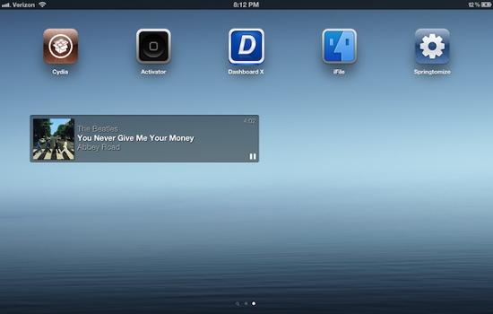 Jukebox - новый виджет плеера для DashboardX [Cydia / Обзор / Скачать]