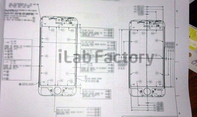 В сети появились чертежи iPhone 5 [Фото]