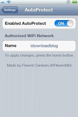 Джейлбрейк-твик AutoProtect автоматически отключит пароль iPhone при подключении к домашней сети Wi-Fi