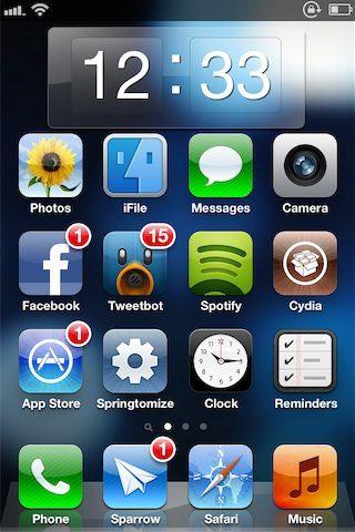 Clock Widget для Dashboard X добавит Android-подобные часы на Springboard iPhone [Скачать]