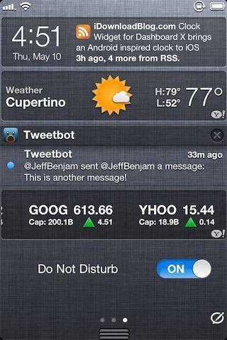 DoNotDisturb быстрое отключение уведомлений из ЦУ iOS [Cydia / Обзор / Скачать ]