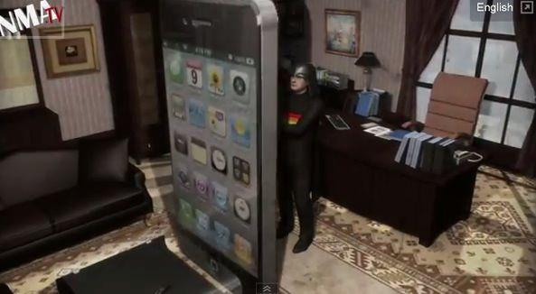 «Увеличенный iPhone 5» от безбашенных тайванцев [Юмор / Видео]