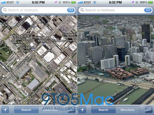 iOS 6: Apple откажется от Google Maps в пользу собственных невероятных 3D карт