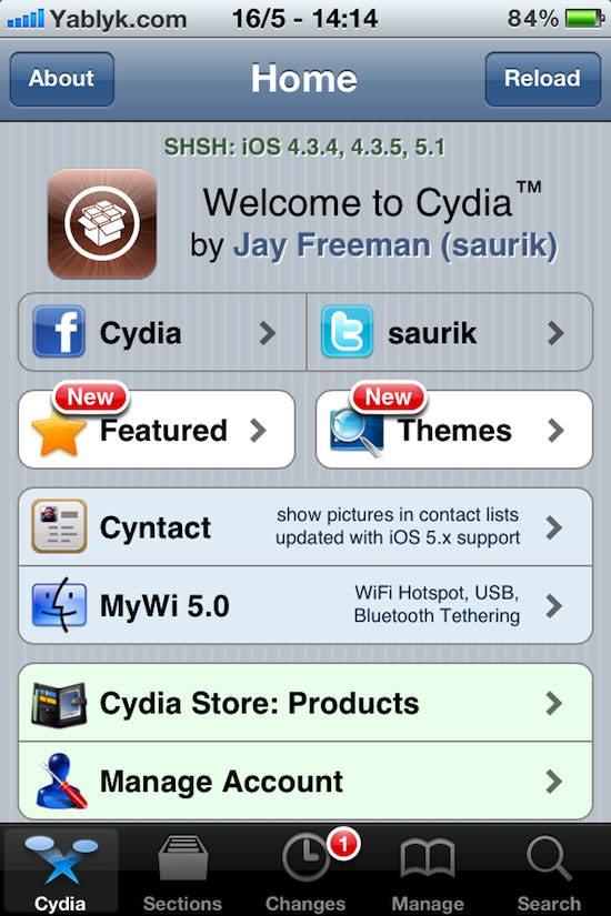 Отвязаный джейлбрейк iOS 5.1.1. Полный список поддерживаемых устройств