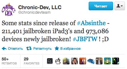 Chronic Dev Team: 1 200 000 iOS-устройств получили отвязанный джейлбрейк iOS 5.1.1 за выходные