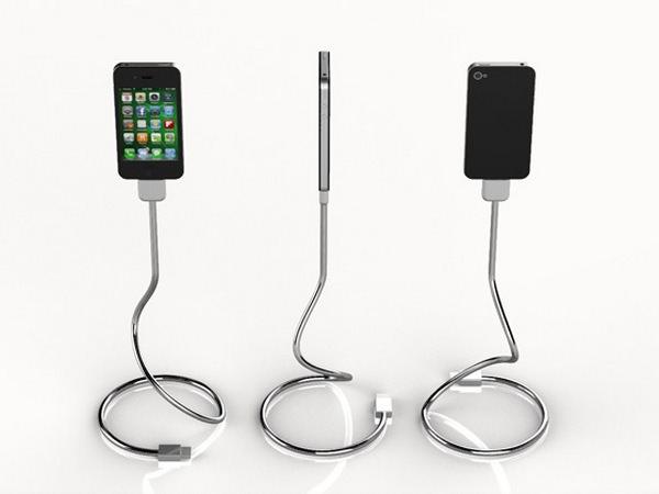 Une Bobine - оригинальный кабель-подставка для iPhone [Аксессуары]