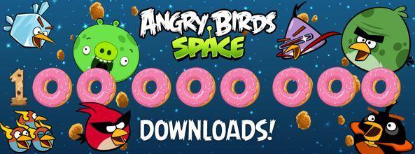 Игра Angry Birds Space скачана 100 000 000 раз за 75 дней!