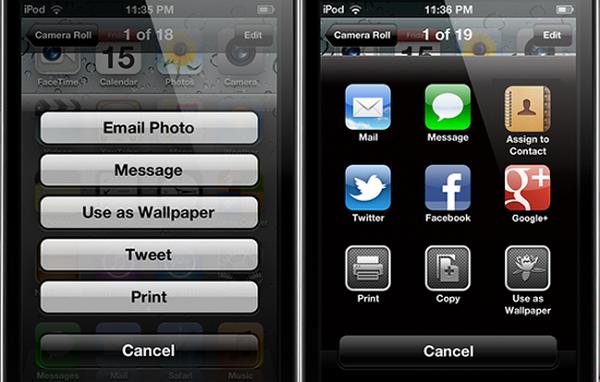 iOS 6 Photos Menu - твик из Cydia, который переносит меню Фото из iOS 6 [ Скачать / Обзор]