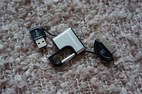 Аксессуар-брелок Scosche - кабель для синхронизации и зарядки iPhone, который всегда с собой