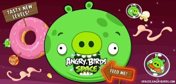 """Скачать Angry Birds Space 1.2.0 с десятью новыми """"сладкими"""" уровнями [App Store / Обзор / Видео]"""